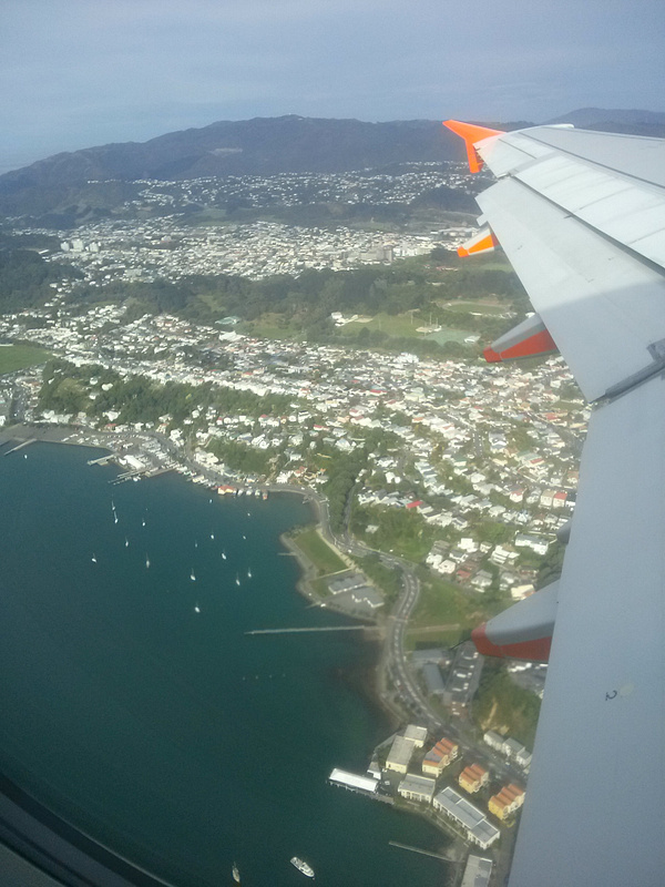Flying over Wellington
