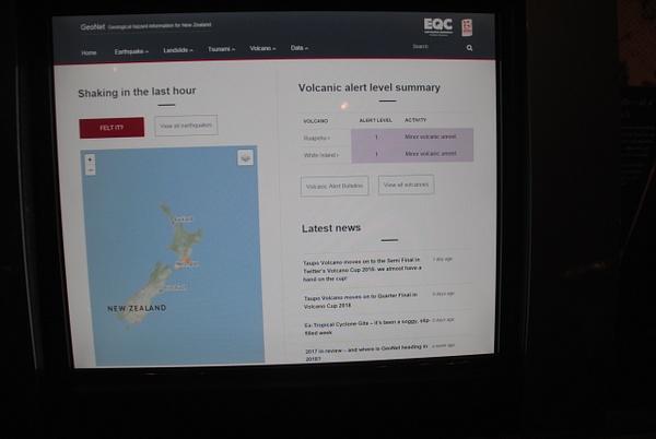 Volcanic activity info in Wellington museum by Maria Dzeshchanka