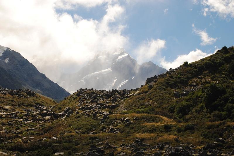 Walking to Mount Cook