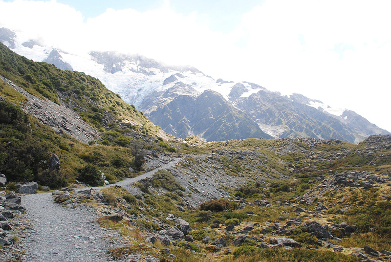 Walking to Mount Cook
