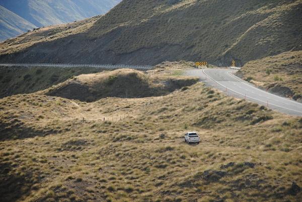 Crown Range Road by Maria Dzeshchanka
