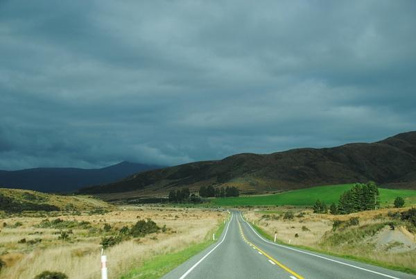 on the road by Maria Dzeshchanka