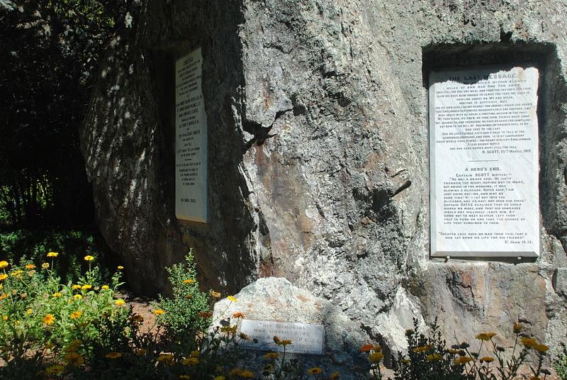 A memorial to Captain Robert Falcon Scott