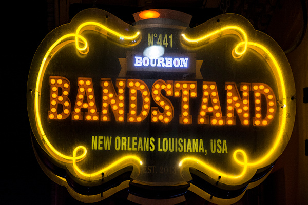 Bourbon St. New Orleans by Michael Roberts