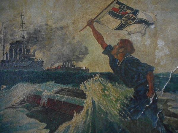 Katrina's: Sailor - Oil on Paper by CarolynAlvarado