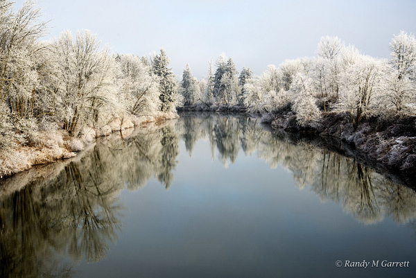 Icy Chehalis River by RandyMGarrett