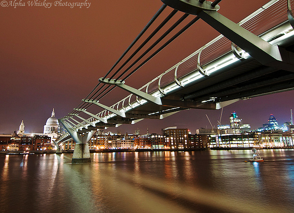 Millenium Bridge, London by Alpha Whiskey Photography