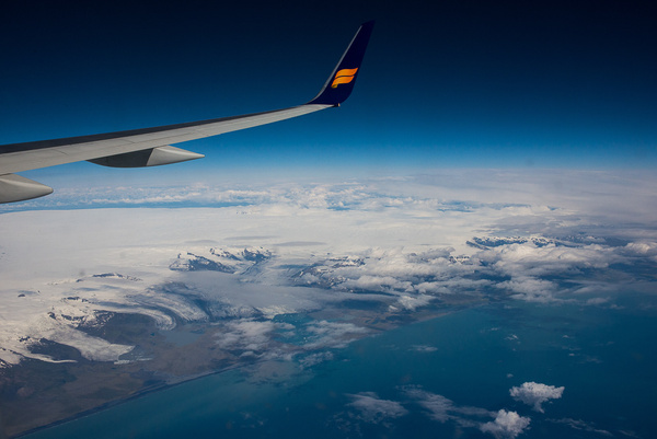 Icelandic airplane view 2014 by Muzzyenn