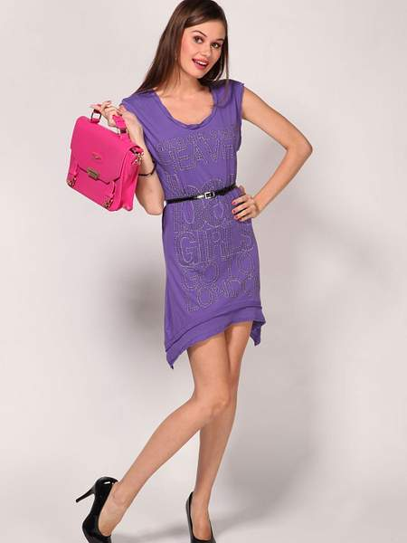 Alcott Blueberry Asymmetric Dress