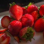 2015Aug Strawberries at breakfast