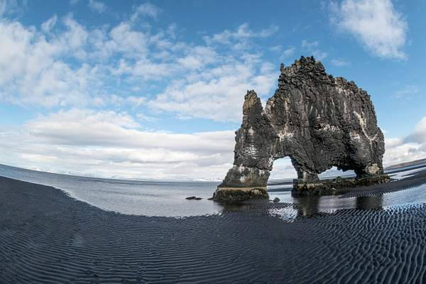Hvitserkur with the superwide lens.  We got there at low tide!  Perfect, and unplanned.