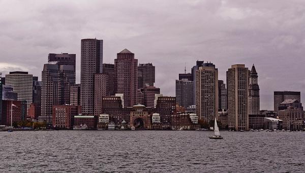 Boston Skyline by DMont