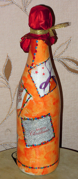 Newyear decoupage champagnes by DenDen