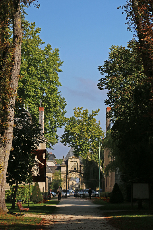 View back toward the main gate from the park's main path