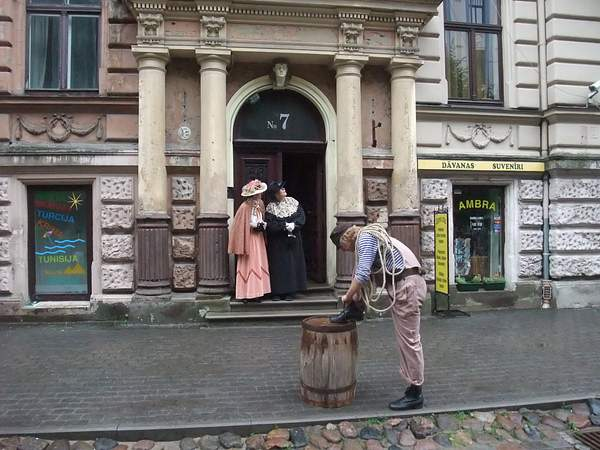 Riga. Art Nouveau street