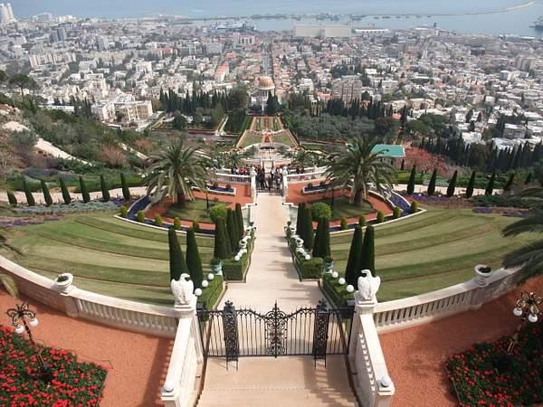 Haifa. Bahá'í gardens
