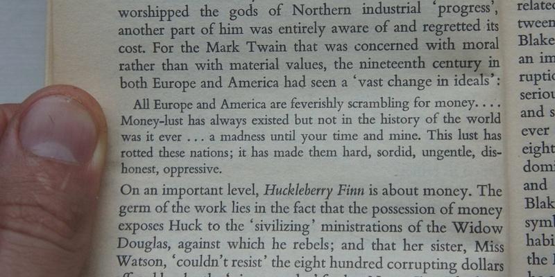 Thank you Mark Twain