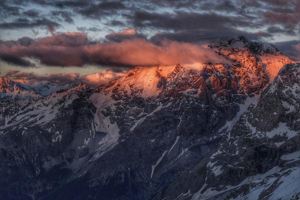 Sunset Over the Italian Alps by DaveWyman