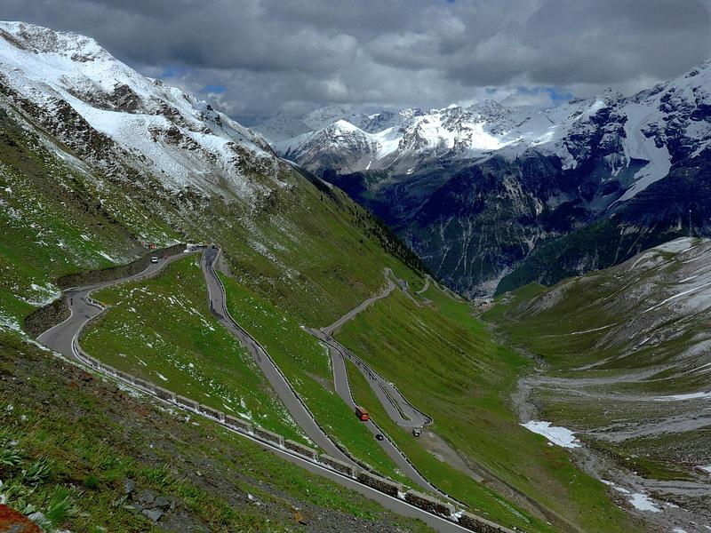 The Route Down Stelvio Pass