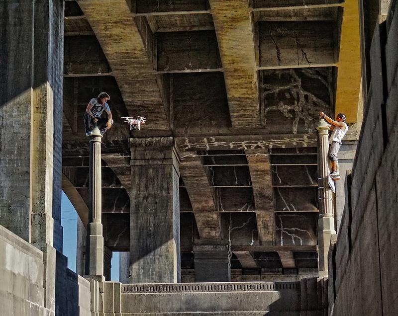 Droning On Beneath the 6th Street Bridge
