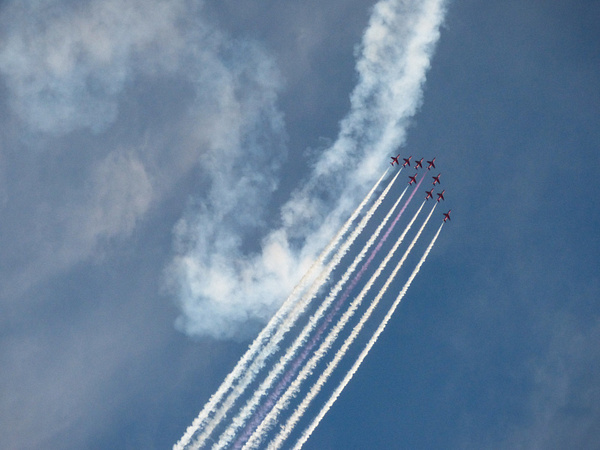 Red Arrows 1 by James Borland