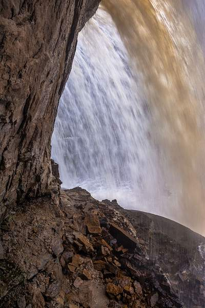 Under the Upper Falls