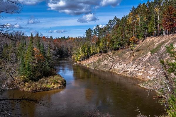 2016 Manistee River Fall Colors Oct. by SDNowakowski