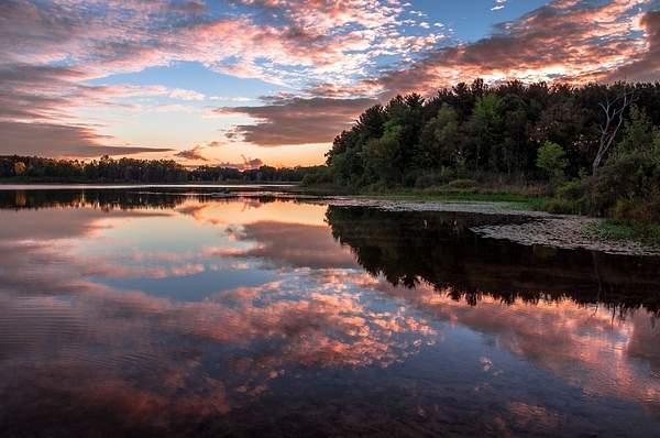 Sunset Reflections on Bishop Lake