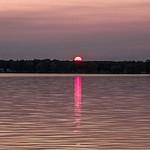 2015 Sunset on Green Lake inside Interlochen State Park