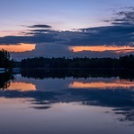 2017 Lake Gitchegumee Sunset on May 28, Memorial Day Weekend