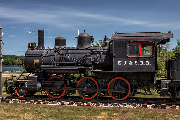 2017 EJ&S #6 Steam Locomotive sitting in a Park in East Jordan, Michigan by SDNowakowski