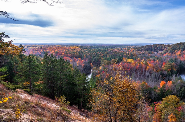 2017 Fall Colors around Buckley Roll-Way in Buckley, Michigan in October by SDNowakowski
