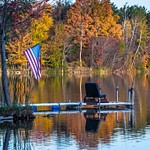 2017 Lake Gitchegumee Fall Colors in Buckley, Michigan in Oct.