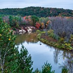 2017 Fall Color pictures from Eagle View & Baxter Bridge on the Manistee River in Northern Michi