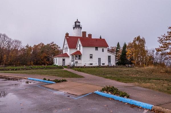 2017 Point Iroquois Lighthouse in Oct. by SDNowakowski
