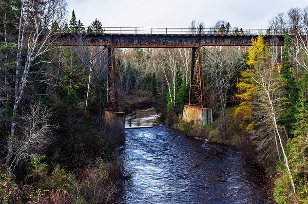 2017 CN Railroad Bridge over the North Branch of the Pine River in Rudyard, Michigan by SDNowakowski