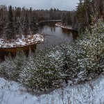 2017 Panoramic Photos of the Manistee River after a Light Snow