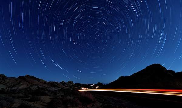 Light and Star Trails At Valley of Fire