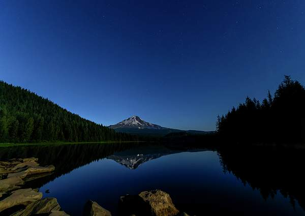 Mt Hood Reflected During the Blue Hour