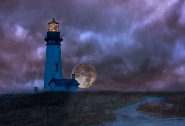 Rainy Night for Super Moon At Lighthouse V 5 222