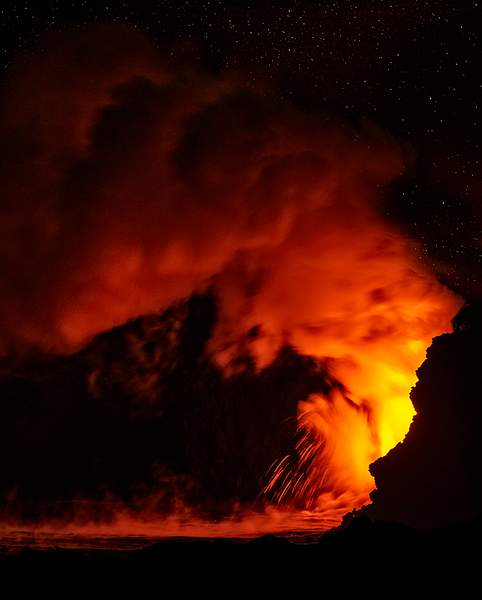 Starry Night At the Lava Flow