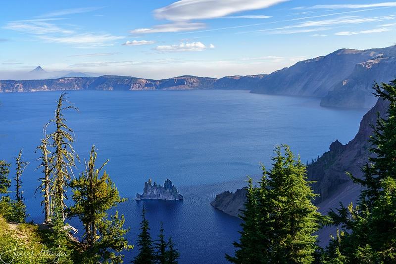 Phantom Ship and Mount Thielson At Crater Lake