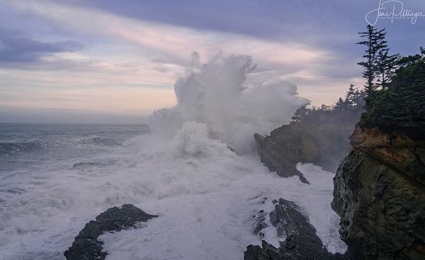 High Surf At Dawn 2 by jgpittenger