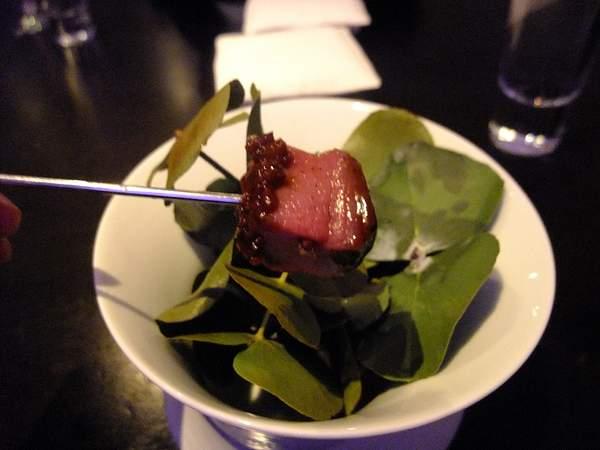 Venison - cherry, cocoa nib, eucalyptus 222