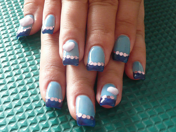 Michelle-Blue extension by CandiliciousNails