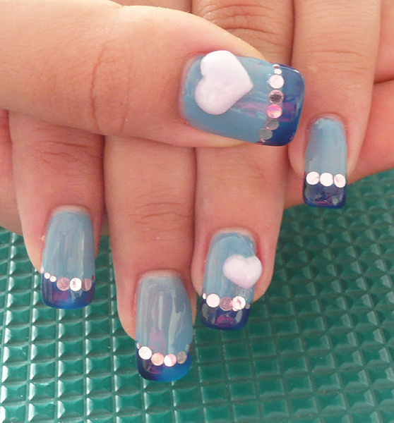 Michelle-Blue extension2 by CandiliciousNails