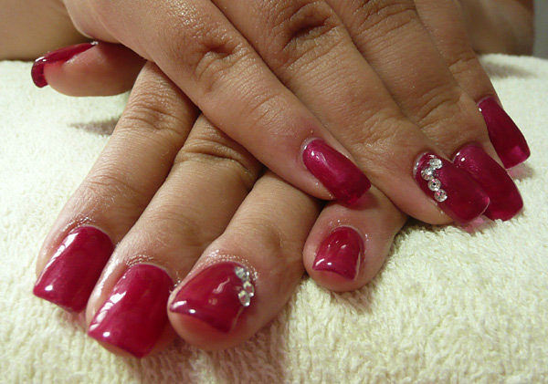 Michelle-Gel extension by CandiliciousNails