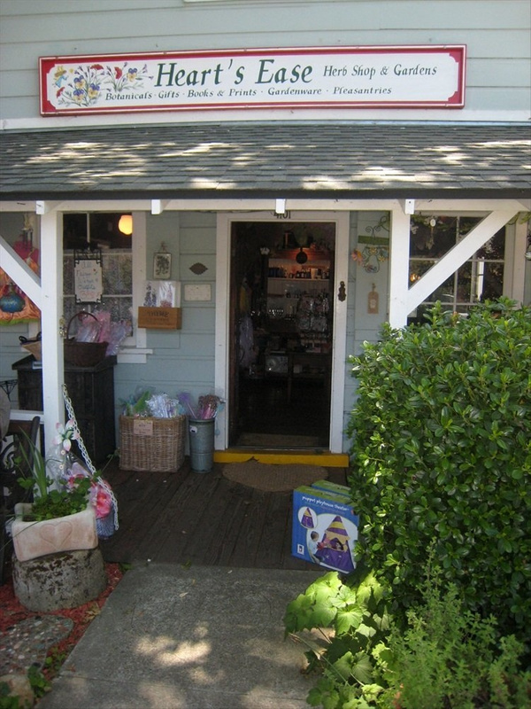 Entrance to Gift-Herb shop in Cambria