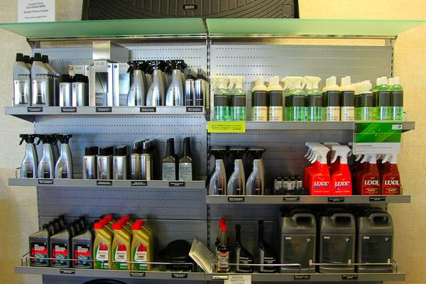 Fully Stocked chemical rack at BMW N. Scottsdale 222