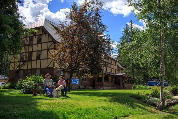 Chillin  at the Izaak Walton Hotel, Montana 222